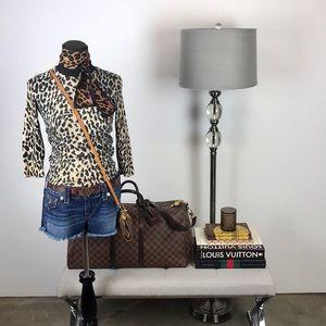 C. Wonder Leopard // Animal Print 3/4 Sweater Top